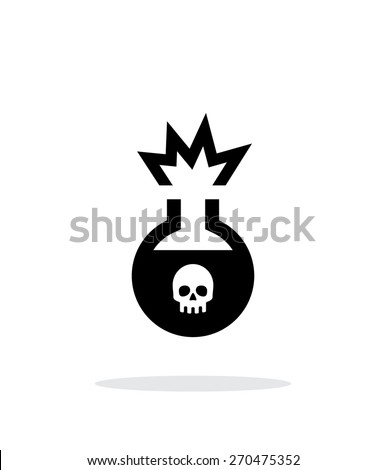 Florence flask with dangerous substance simple icon on white background. Vector illustration. - stock vector