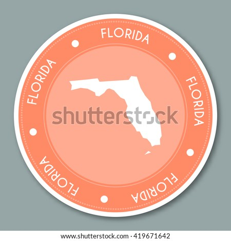 Florida State Map Geometric Polygonal Style Stock Vector - Large image map of us vector labels