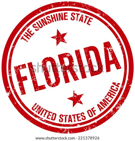 florida stamp - stock vector