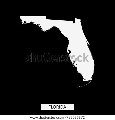 Florida State Usa Map Vector Outline Stock Vector - Us map vector outline