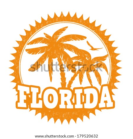 Florida travel rubber stamp on white, vector illustration - stock vector
