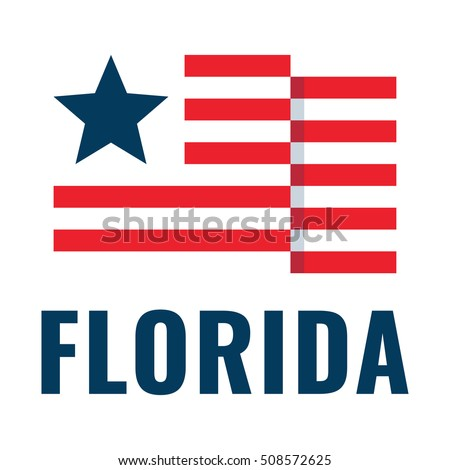 florida usa flag flat vector icon stock photo photo vector rh shutterstock com us flag logo pic us flag logo pic