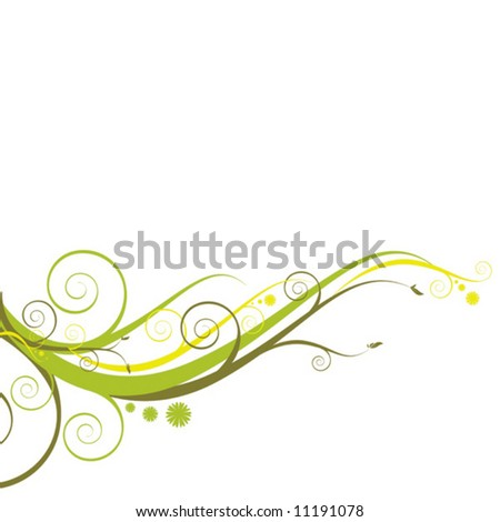 Floristic ornament isolated