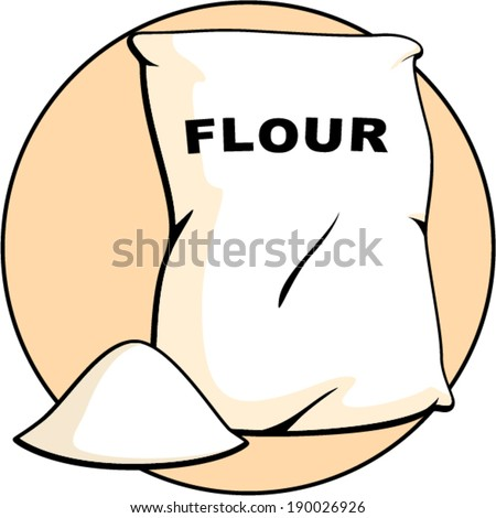 flour bag - stock vector