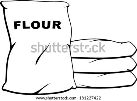 flour sacks - stock vector