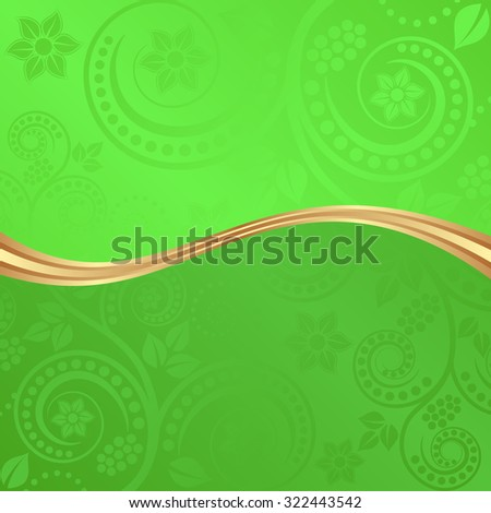 flourish background divided into two - stock vector