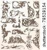 Flourish Calligraphic Elements - stock vector