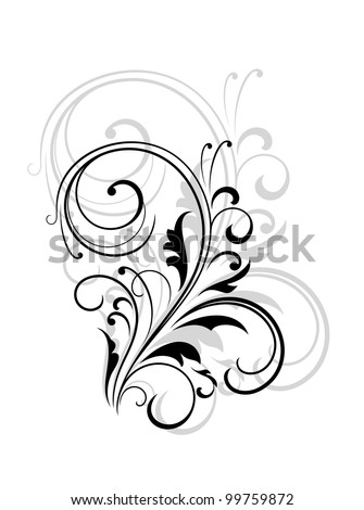 Flourish design element. Jpeg version also available in gallery - stock vector