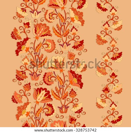 Flourish ribbon ornament - stock vector