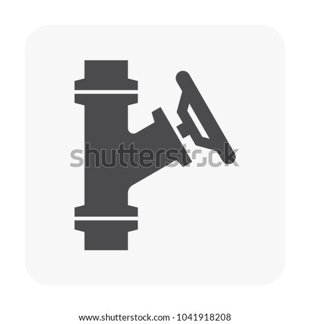 Flow Control Valve Icon Stock Vector 1041918208 Shutterstock