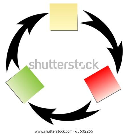 flow diagram - stock vector