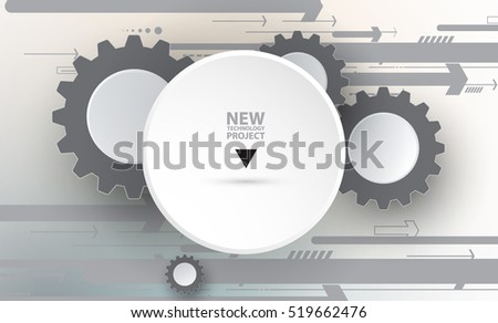Flow of arrows. Imagination of business or technology process. Vector futuristic  background with great idea for presentation