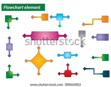 Flowchart element - abstract illustration with background - stock vector
