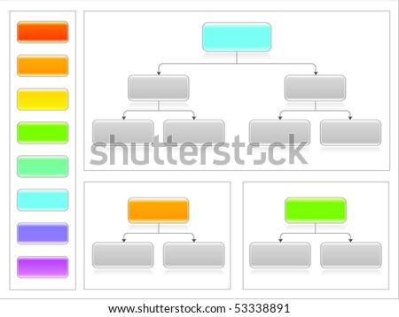 Flowchart set 5 - stock vector