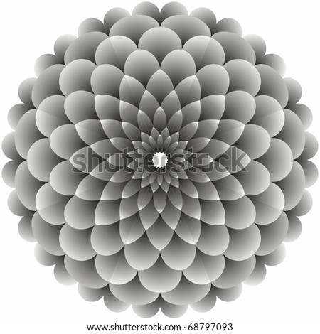 Flower abstract. Vector illustration. - stock vector
