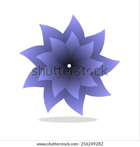 flower art abstract - stock vector