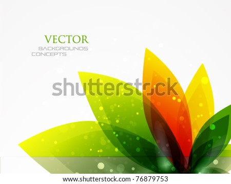 Flower background - stock vector