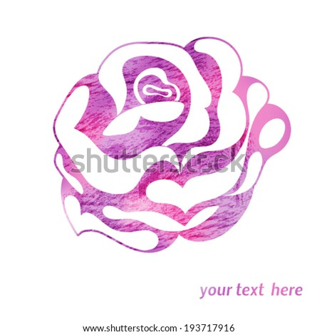 flower background. beautiful flower made with color filters - stock vector