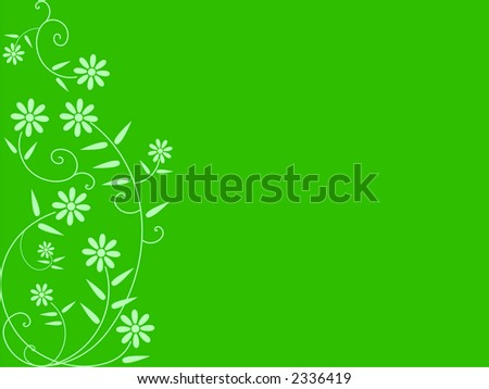 Flower background, editable colors and size - vector illustration