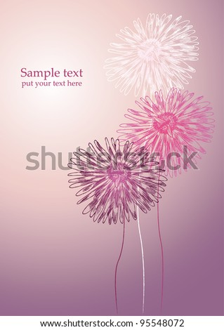 flower background for postcard or notebook
