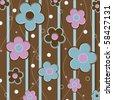 Flower background, vector - stock vector