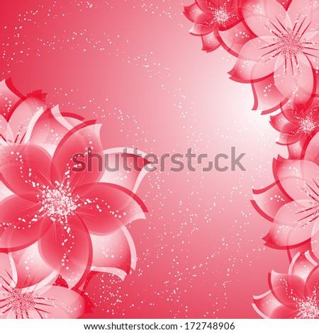 Flower background. Vector illustration - stock vector