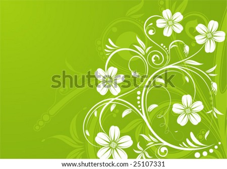 Flower background with bud, element for design, vector illustration - stock vector