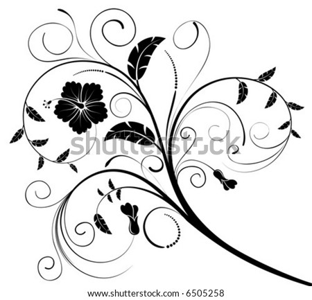 Flower background with buds, element for design, vector illustration
