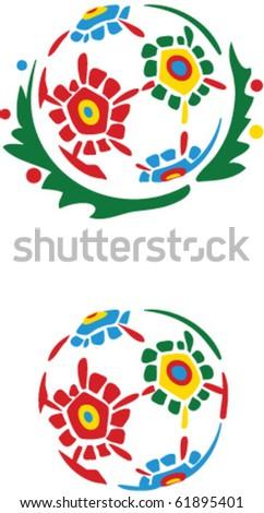flower ball - stock vector