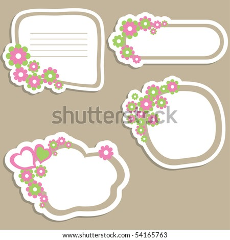 Flower banners. vector illustration - stock vector