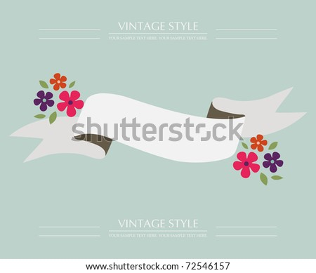 Flower banners. vector illustration - stock vector