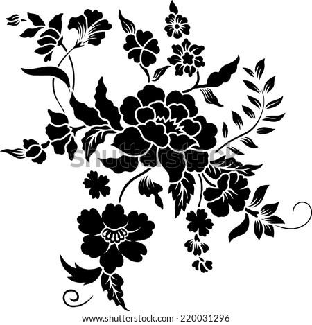 Flower Batik. - stock vector