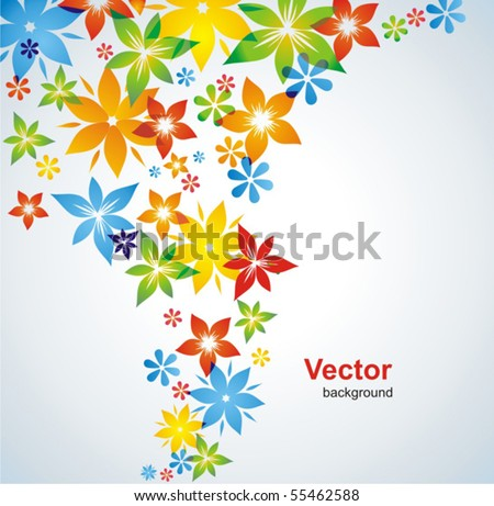 Flower colorful background. Vector. - stock vector