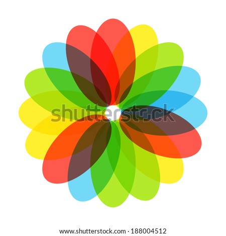 flower, colorful, beautiful, with petals vector