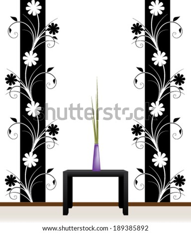 Flower decal for wall decoration