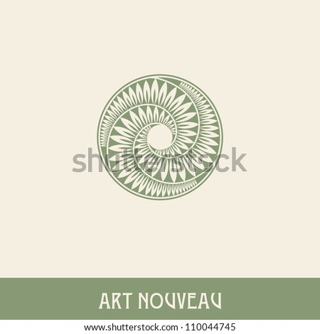 Flower. Design element in art nouveau style