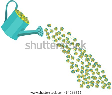flower drops - stock vector
