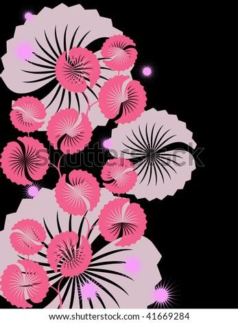 flower east - stock vector