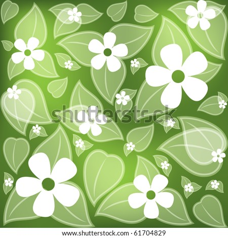 Flower fields. Vector format 10 eps