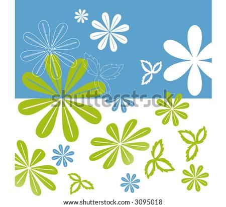 flower fun vector - stock vector