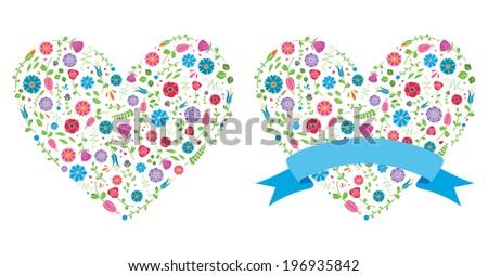 Flower Heart - stock vector