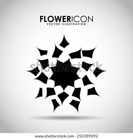 flower icon design, vector illustration eps10 graphic  - stock vector