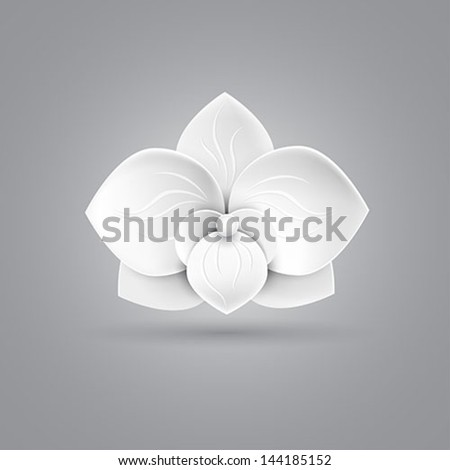 flower icon vector - stock vector