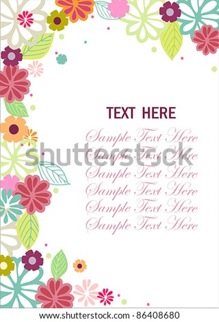 flower invitation - stock vector