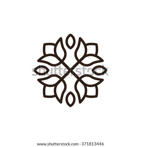 Flower Logo Template - stock vector