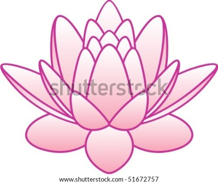 flower lotus - stock vector