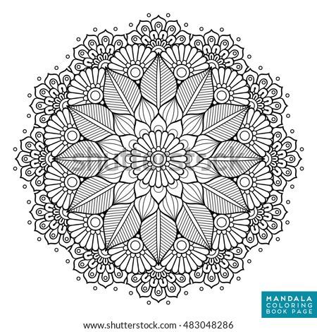Flower mandala vintage decorative elements oriental image vectorielle