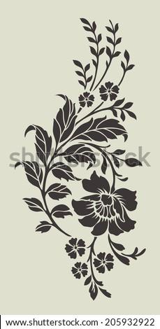 Flower motif,Flower design elements vector - stock vector