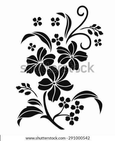 Flower motif,Flower design elements vector,flower design sketch for pattern,lace edge,flower motif - stock vector