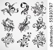 flower ornament vector pattern - stock